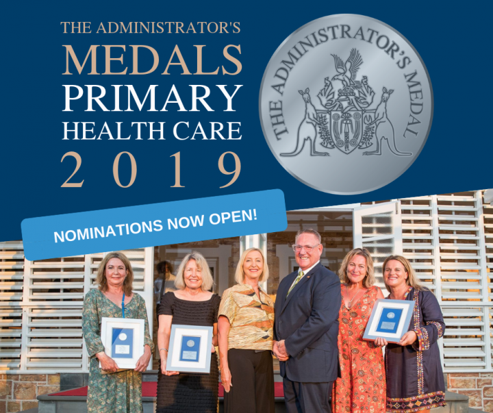 Administrator's Medals in Primary Health Care 2019